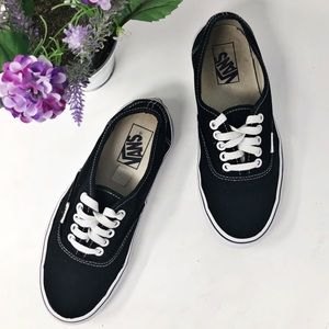 Vans Black Canvas Sneakers SZ Women's 8
